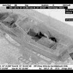 A helicopter thermal image of the boat in which Dzhokhar Tsarnaev was hiding as police moved in to capture him.
